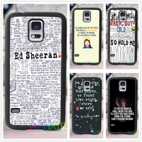 ED SHEERAN SONG QUOTES Fashion Cover Case For Samsung Galaxy S3 S4 S5 S6 S7 S6
