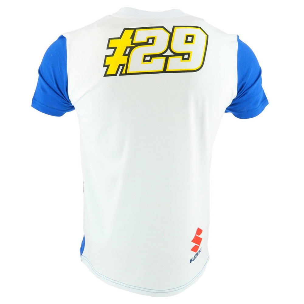 MotoGP NO.29 100% Cotton T-Shirt For Suzuki Racing Team Motorcycle Racer Andrea Iannone T shirts Mens Summer Breathable Shirt