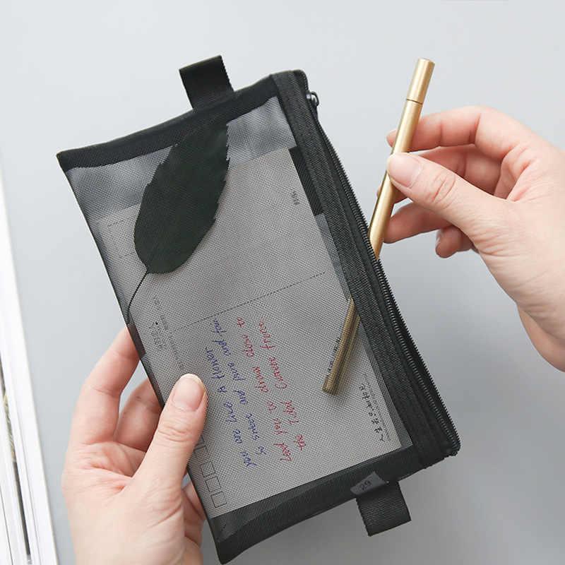 Przezroczysty folder na zamek błyskawiczny piórnik piórnik szkolne stacjonarne