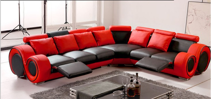 Popular Modern Red Leather Sofa-Buy Cheap Modern Red Leather Sofa