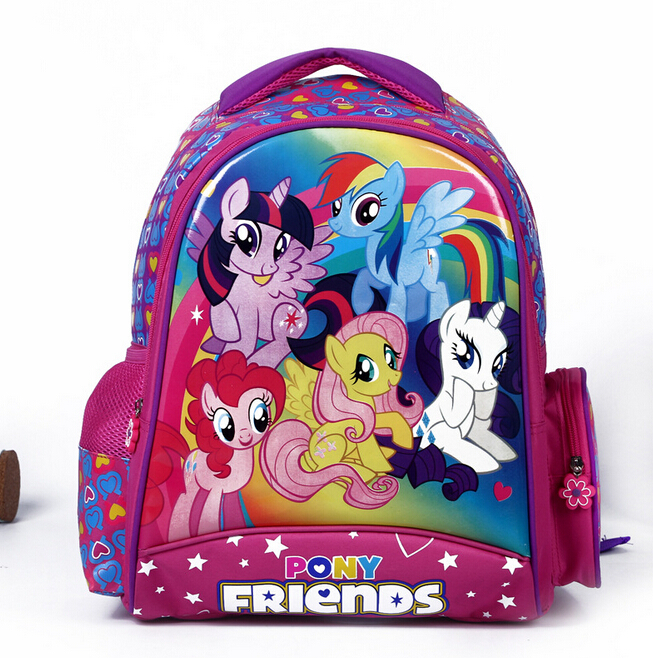 New kids cartoon my pony schoolbag girls lovely Backpack Schoolbag For Kids Children Christmas Gift Bags