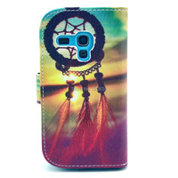 Romantic Sunset Campanula Design Leather Flip Wallet Stand Protective Pouch Cover Case For Samsung Galaxy SIII