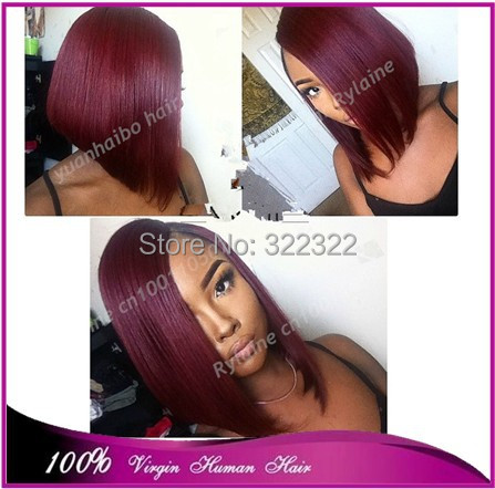 Magnificent Online Buy Wholesale Burgundy Bob Style From China Burgundy Bob Hairstyles For Women Draintrainus