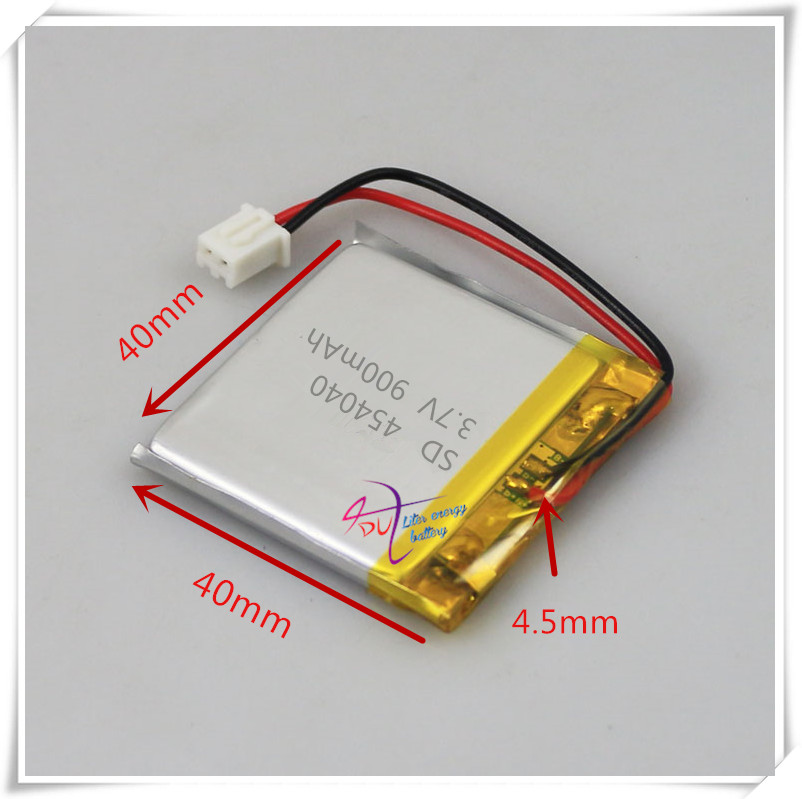 XHR-2P 2.54 900mAh 454040 3.7V lithium polymer battery point reading machine student computer story machine ...