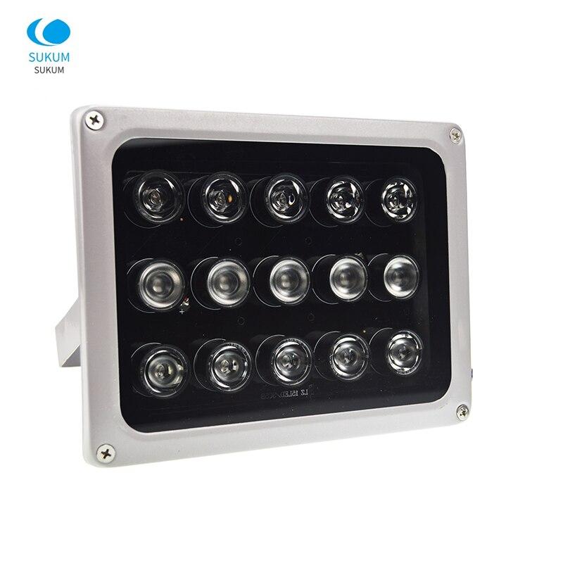 AC 220 V CCTV LEDS 15 IR LEDS tableau IR illuminateur lampe infrarouge 850nm étanche Vision nocturne CCTV lumière de remplissage pour caméra de vidéosurveillance