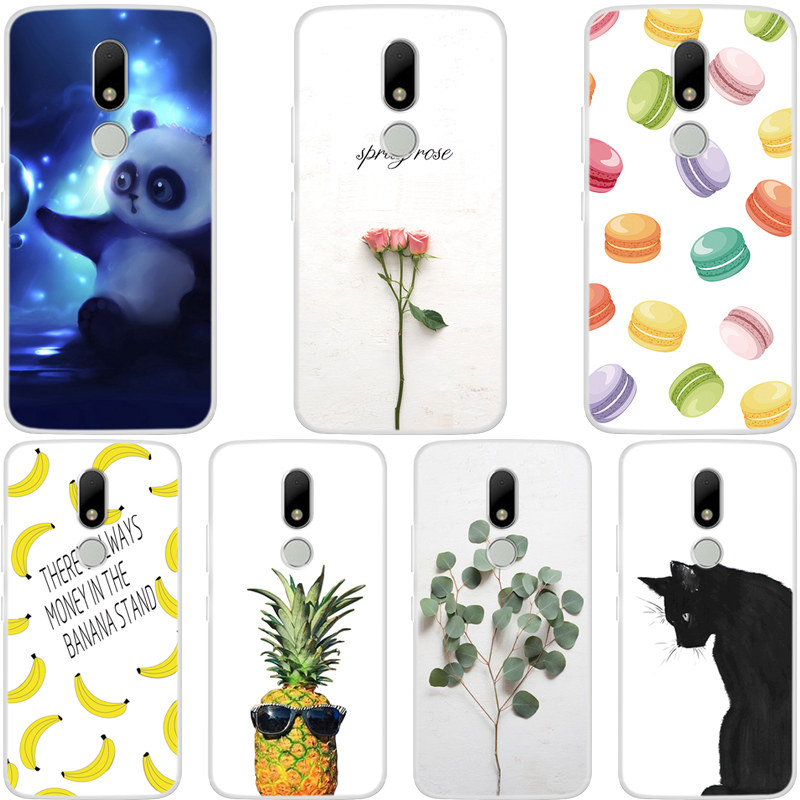 For Capa <font><b>Moto</b></font> M XT1662 <font><b>Case</b></font> Silicone 5.5 inch Cute Cartoon Back Cover For <font><b>Motorola</b></font> <font><b>Moto</b></font> M <font><b>Case</b></font> <font><b>XT1663</b></font> Funda Soft TPU Phone <font><b>Cases</b></font> image