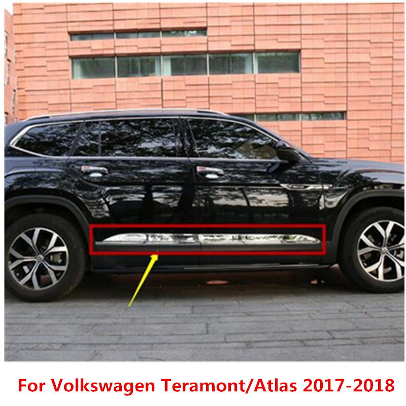 high quality Stainless Steel body side moldings side door decoration For Volkswagen Teramont/Atlas 2017-2018 Car styling