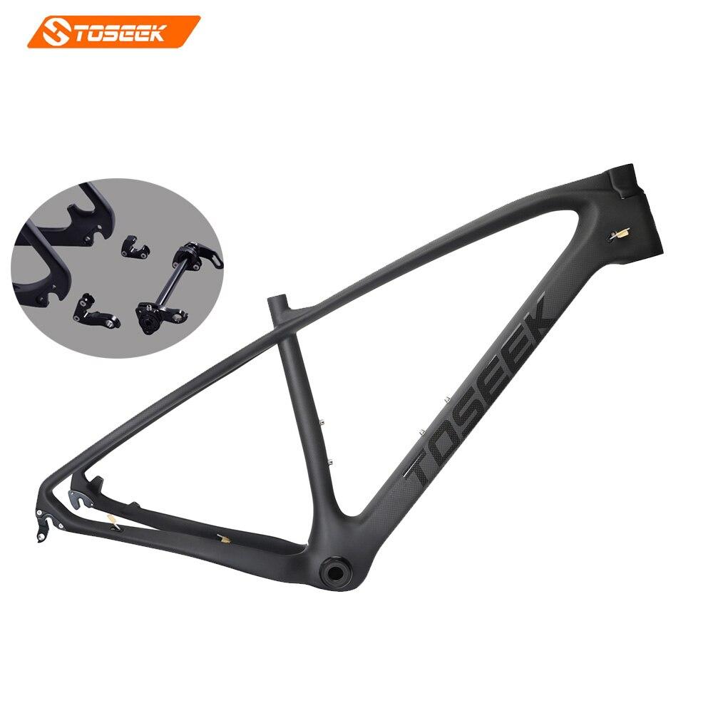 2017 TOSEEK Carbon mtb Frame 27.5/29er 1 1 / 8 1 1 / 2 matte black15/17/19 inch Carbon Bike Frame 142*12 135*9 Bicycle Frame