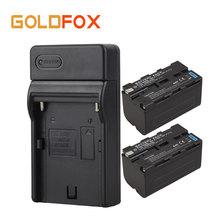 2 шт. 5200 мАч NP F770 F750 Батарея + Зарядное устройство для Sony NP-F750 np-f770 Перезаряжаемые видео Камера Цифровые батареи Bateria
