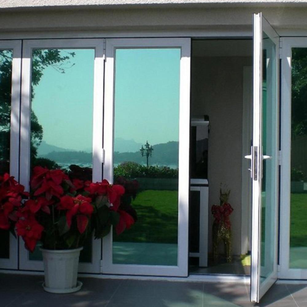 0.7x3m Silver Green Reflective Mirror Window Film Mirrored Privacy Sticky Glass Tint Sun