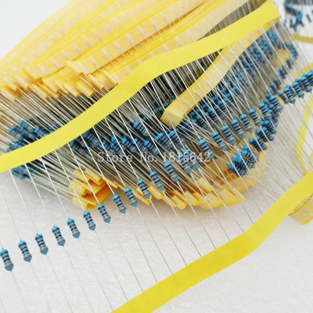 200 шт. 1/4 Вт 470 Ом резистор +/- 1% ROHS1/4 Вт 0,25 об металлопленочные Резисторы/Вт ватт цветное кольцо сопротивление углеродная пленка
