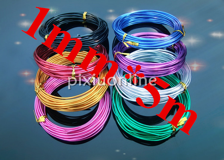 1roll K718 1mm*5m colorful Aluminum Wire Connecting Lead Metal ...