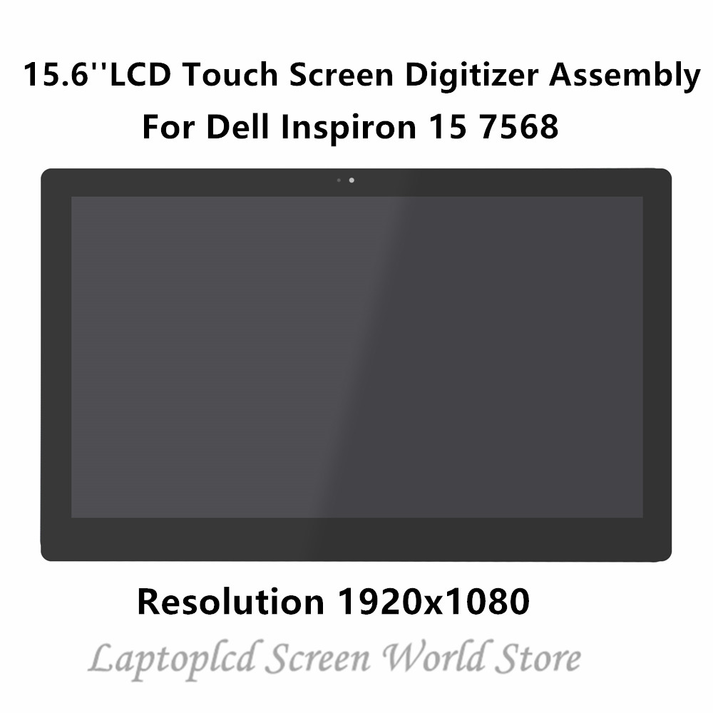Laptop Lcd Screen Laptop Accessories Ftdlcd 15.6 2-in-1 Lcd Touch Screen Digitizer Display Assembly Repair Laptop For Dell Inspiron 15 7568 1920*1080 Latest Fashion