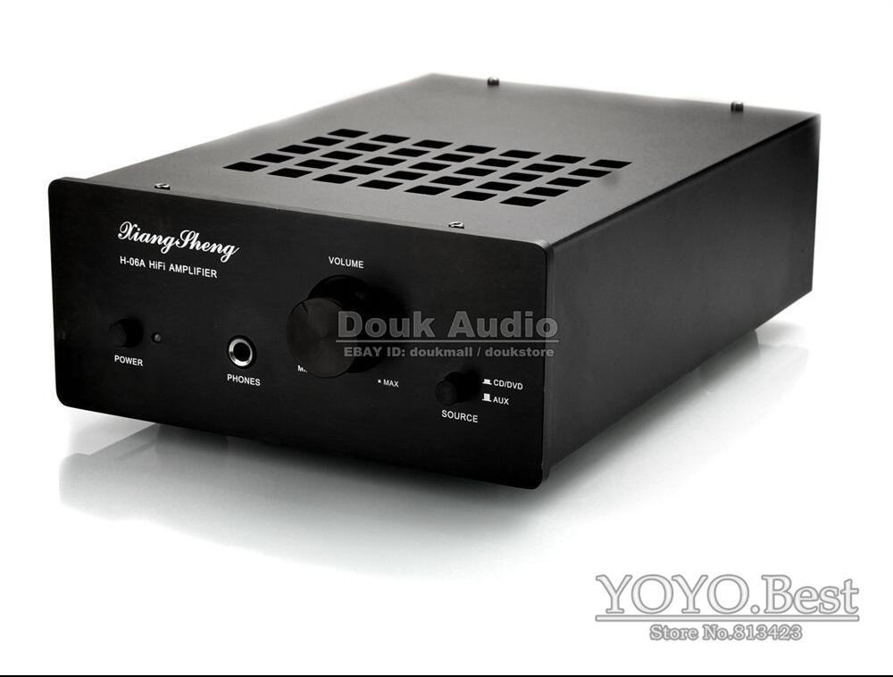 цена на Nobsound XiangSheng H-06A Hybrid Solid State 6J1*2+LM1876 Desktop Tube Amplifier Headphone Amp Finished Product 110~240V