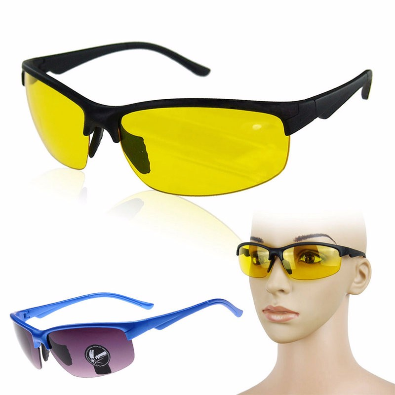 Hunting Outdoor Sports Safety Explosion-proof Night Visions Glasses Tactical High Definition Driving Lens For Men Goggles
