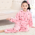 Children Pajamas Spring Autumn Boys Girls Kids Loungewear Childrens Underwear Nightwear For Kids Thicken Flannel Nightgown