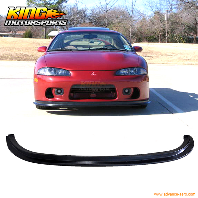 for 97 99 mitsubishi eclipse pu front bumper lip spoiler ds style pu