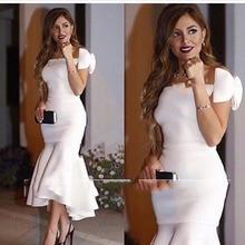 Длинные арабские стильные вечерние одежды сексуальный вырез «сердечко» Саудовская Аравия лук Дубай Русалка белые женские вечерние платья