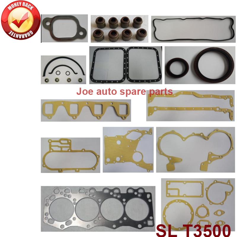 SL complete engine full gasket set kit for Mazda Titan 2ton truck/ T3500T 3455cc 3.5D 1990- SL01-99-100 SL01 99 100 SL0199100