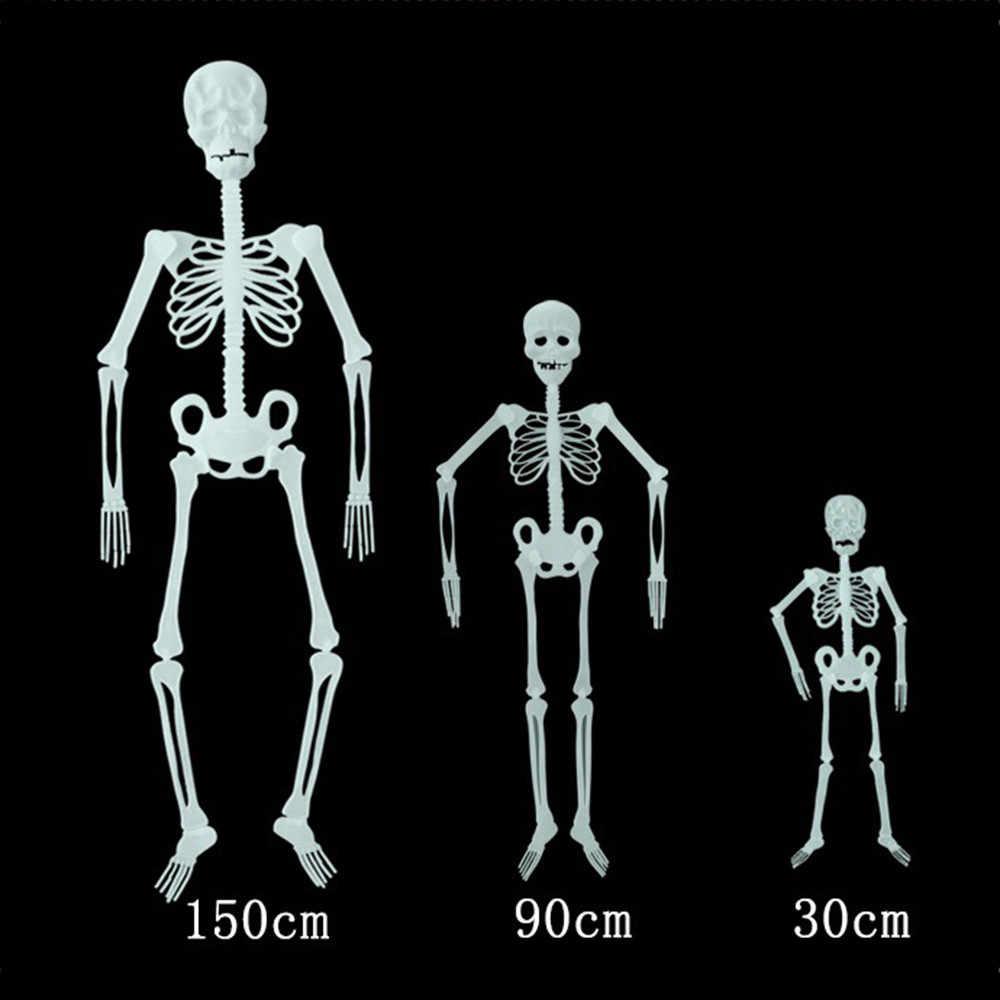 Halloween Adereços Luminosa Esqueleto Humano Pendurado Decoração de Festa Ao Ar Livre EUA