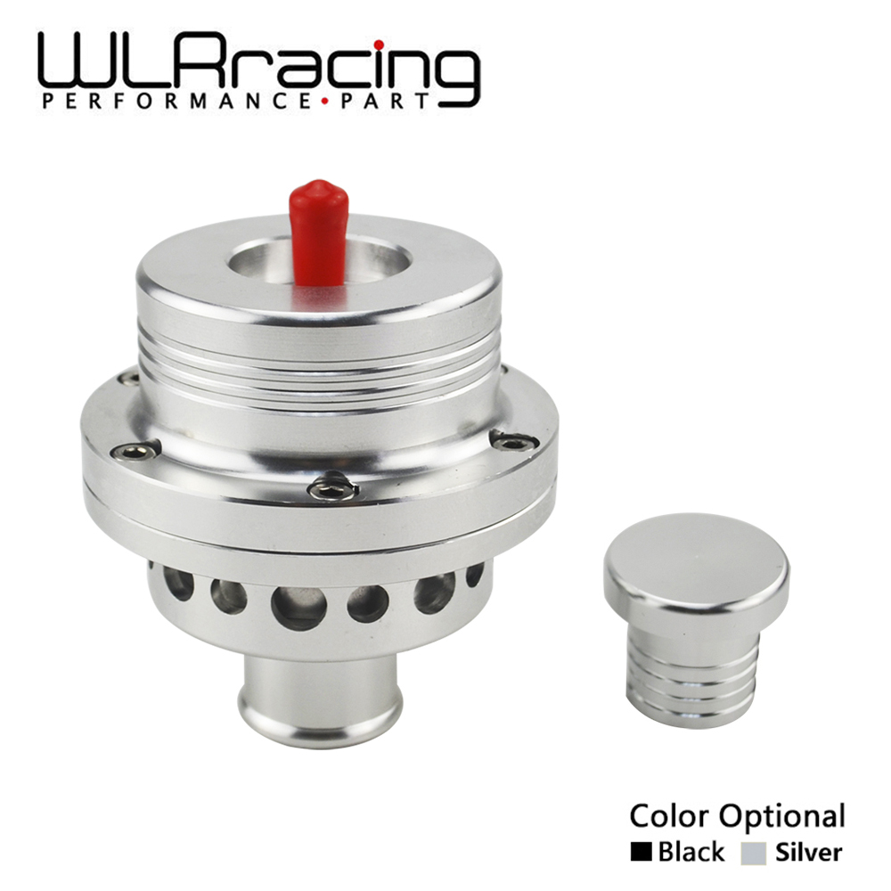 "WLR RACING - 2015 NUEVO HQ 1 ""(25MM) Válvula de escape de doble pistón DV Turbo 1.8T para VW Golf MK4 Jetta A4 B5 Negro, Plata BOV WLR5741"