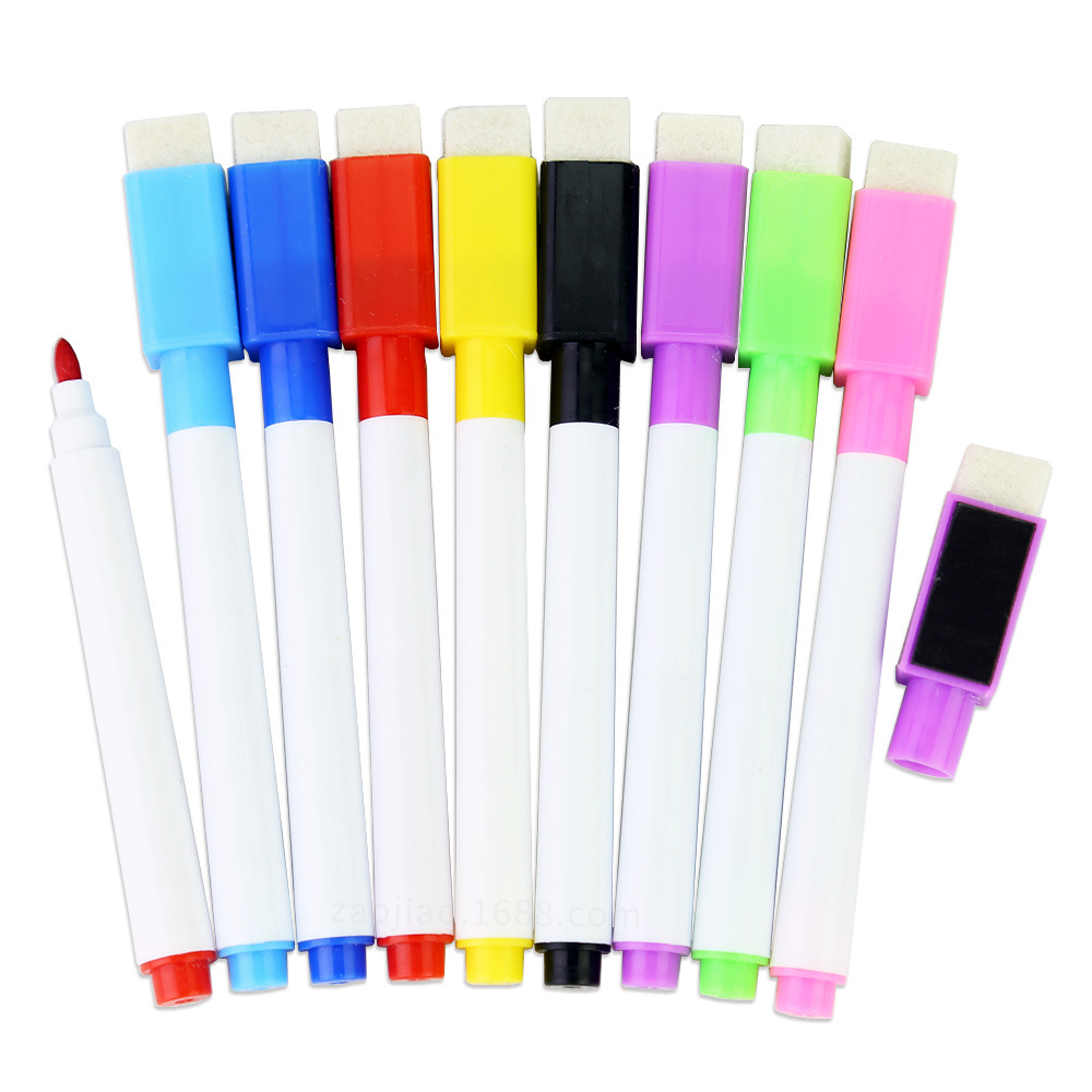 8pc set magnetic whiteboard marker pen plastic mini colour. Black Bedroom Furniture Sets. Home Design Ideas