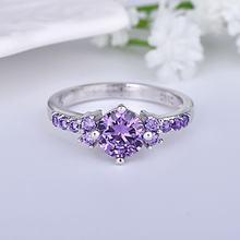 Zn кольца для женщин из фиолетового циркона aaa ювелирные изделия