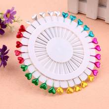 30Pcs/Set Colorful Pins Pearl Head Dressmaking Pins Weddings Corsage Sewing for DIY Jewelry Component DIY Craft Accessory(China)