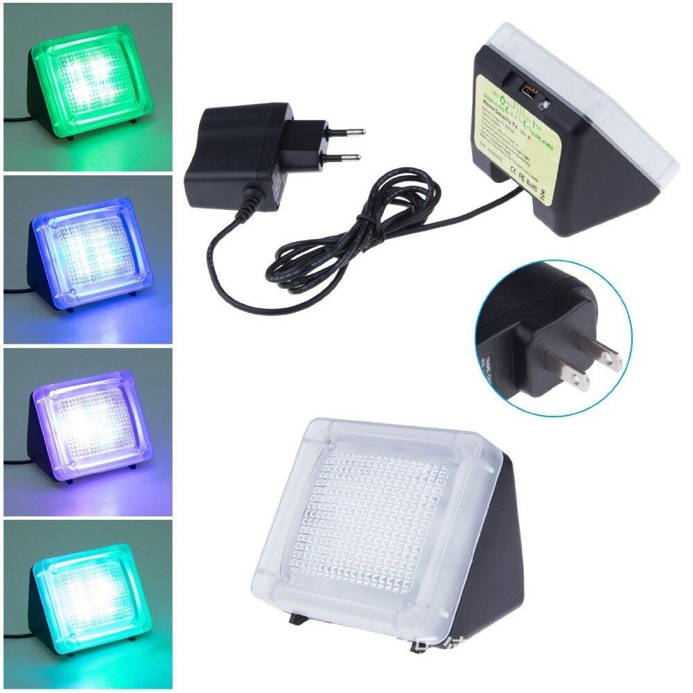 Home Security Light Auto-Sensing Analog TV Dummy Security Fake TV Simulator Super-Bright LED Deters Burglars ,On-Screen Motion