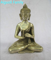Antique antiques Collectible Decorated Old Handwork Tibet Silver Carved Big Buddha Statue/Metal Sculpture