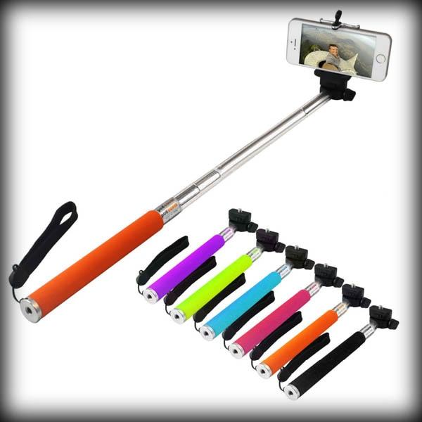 Handheld Extendable Self Portrait Selfie Monopod Stick: By Dhl Or Ems 500pcs Extendable Self Portrait Selfie