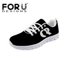 5e41306f3 FORUDESIGNS CR7 Printing Women Flats Shoes Cristiano Ronaldo Fashion Female Sneakers  Shoes Girls Comfortable Light Walking