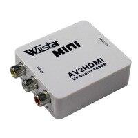 Adpter wiistar mini av2hdmi upscaler 1080 p ps 2 dv av rca כדי hdmi ממיר וידאו מתאם