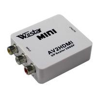 Adpter wiistar mini av2hdmi escalador 1080 p ps 2 dv av rca a hdmi adaptador convertidor de vídeo