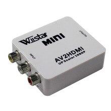 WiistarミニAV2HDMIビデオコンバーターアップスケーラ1080 1080p ps 2 dv adpter av rca hdmiビデオ変換アダプタ