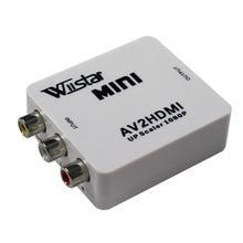 Wiistar Mini AV2HDMI Upscaler 1080P PS 2 DV Adpter adattatore convertitore VIDEO AV RCA a HDMI