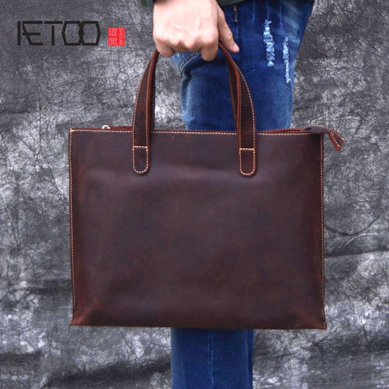 "/'15/"" New Real Leather Briefcase Shoulder Handmade Bag School Office Lawyer Bag"
