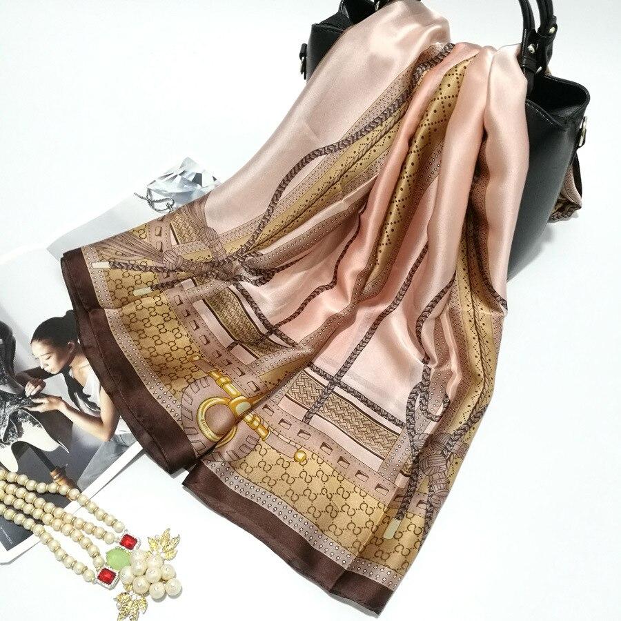 Silk   Scarf     Wrap   Print Cartoon   Scarves   Foulard Shawl Hijab Luxury Brand Bufandas Cape Head   Scarves   Oversize Beach Towel SF036