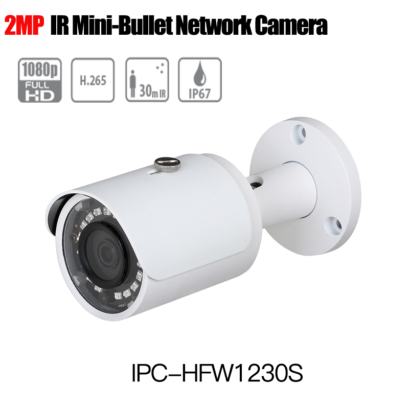 dahua H.265 IP Camera IPC-HFW1230S outdoor English CCTV Camera replace hikvision DS-2CD2020F-I 1080p Bullet Security Camera POE hikvision original english h 265 8mp mini ip camera ds 2cd2085fwd i 4k bullet outdoor cctv surveillance camera onvif poe ip67