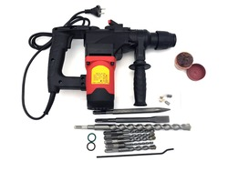 industrial grade electric demolition hammer drill SDS Plus with 11 pieces drill bits 10.8J 1080w 850rpm 220v