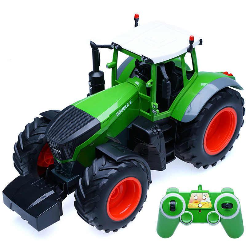RC Truk Pertanian Traktor 2.4G Remote Control Trailer Dump/Rake 1:16 Simulasi Tinggi 38.5 Cm Kendaraan Konstruksi Anak-anak mainan Hobi