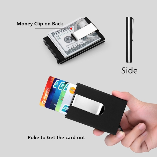 Multi function big capacity clip pu stainless steel business name multi function big capacity clip pu stainless steel business name card credit card holder hand colourmoves