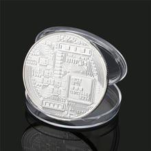 Посеребренная монета Биткоин коллекционный подарок Casascius Bit монета арт-коллекция монет btc физическая памятная монета
