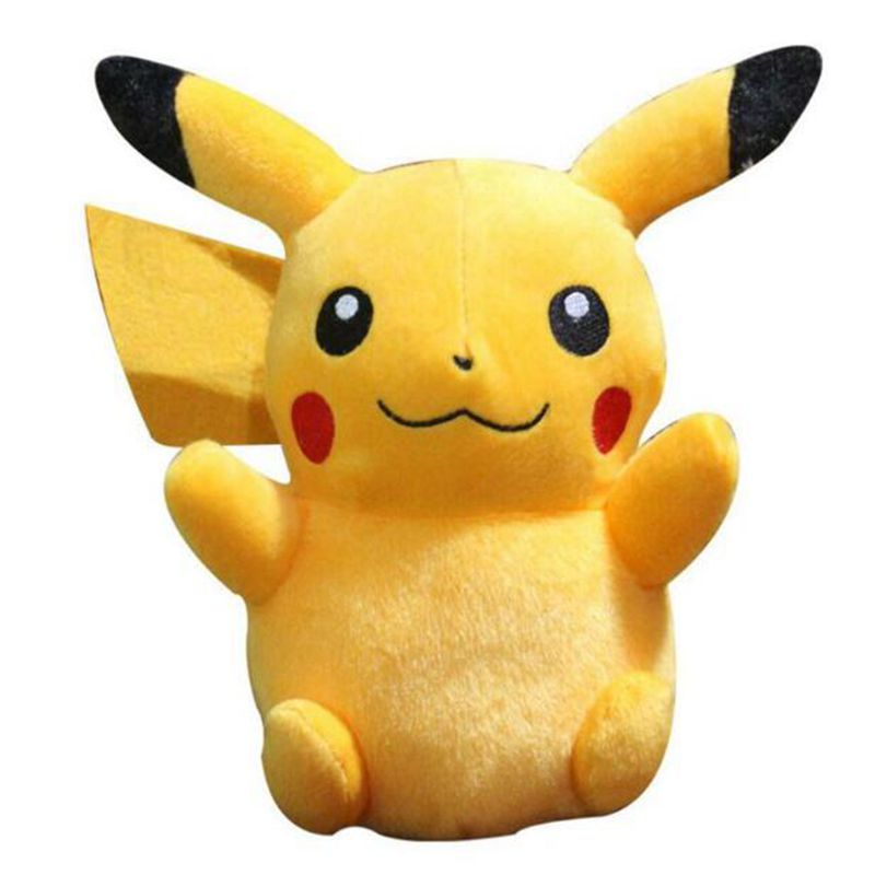 high quality Anime 6 Pikachu Plush Toys Collection Pikachu Plush Doll Toys For kids toys Christmas Gift free shipping 23cm special offer pikachu plush toys high quality very cute plush toys for children s gift