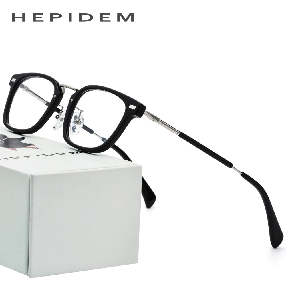 Acetate Glasses Frame Men Small Square Prescription Eyeglasses Fors Women Brand Designer New Myopia Optical Frame Korean Eyewear acetate prescription glasses frame men oliver full round spectacles fors women peoples optical nerd myopia wood grain eyeglasses