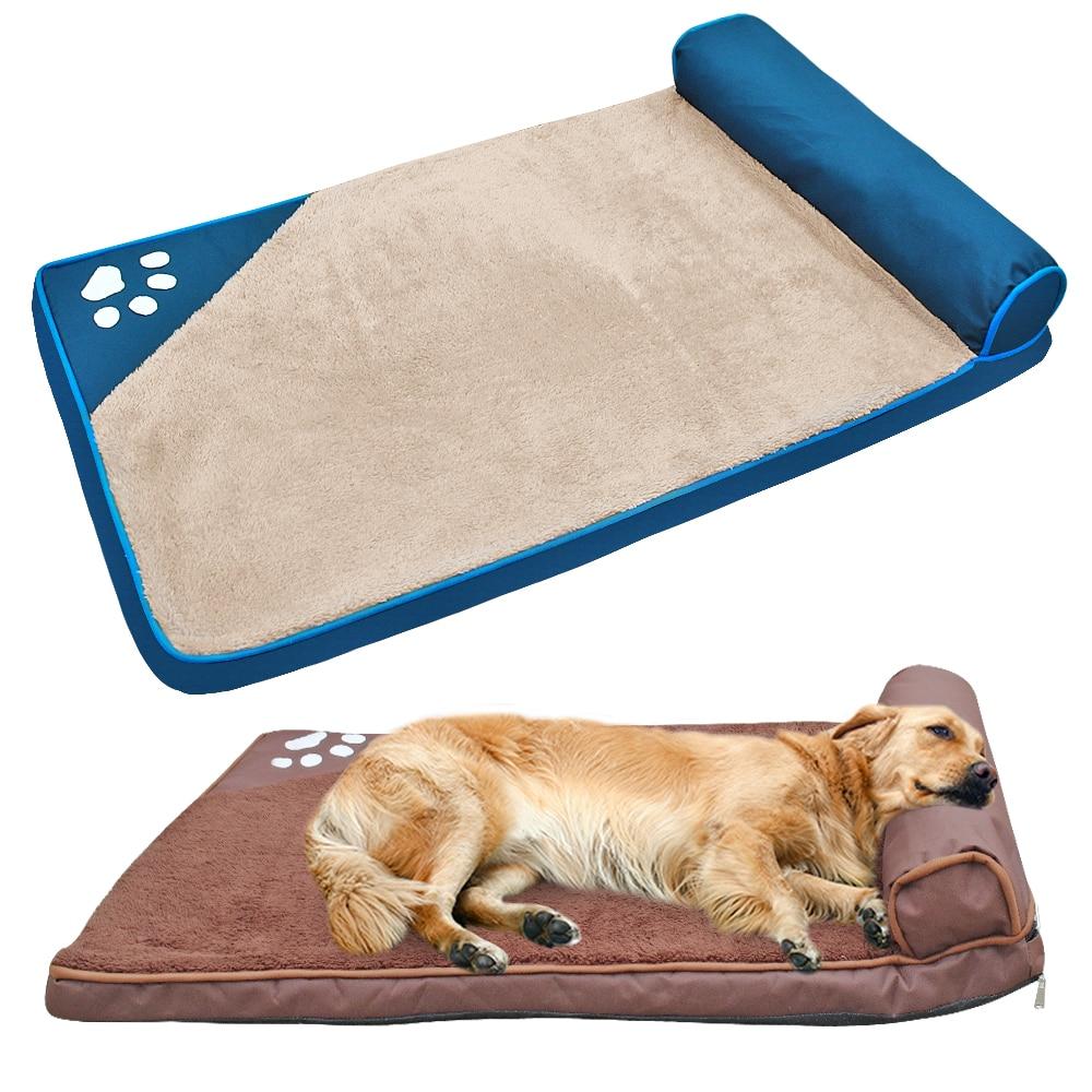 Кровать для собак для больших собак домик для домашних животных диван-коврик для собак кровати с подушкой питомник мягкий домашний домик дл...