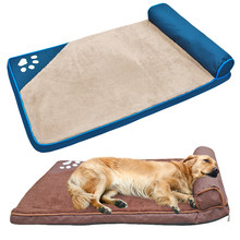 dd92c76aec15 Kimhome Pet Large Dogs Beds With Pillow Pet House Sofa Mat Kennel Soft Pet  Cat House Blanket Cushion For Husky Labrador