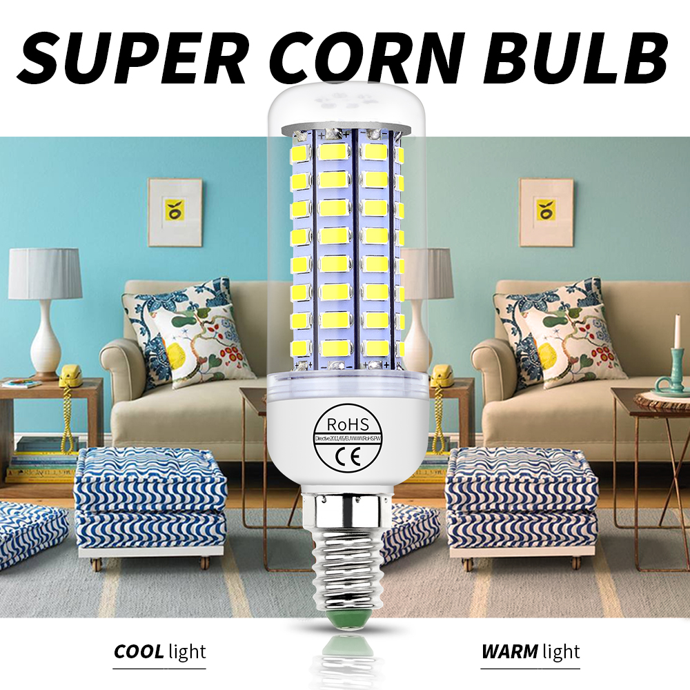 Купить с кэшбэком 10PCS Led Lamp Corn Bulb E27 220V E14 Bombillas led Lamparas SMD5730 Verlichting 5W 7W 12W 15W 18W 20W Luz Led Lights for home