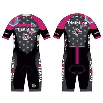 body sets custom lycra lion pink skin suit bicycle triathlon summer cycling wear clothing bike team swimwear running ciclismo