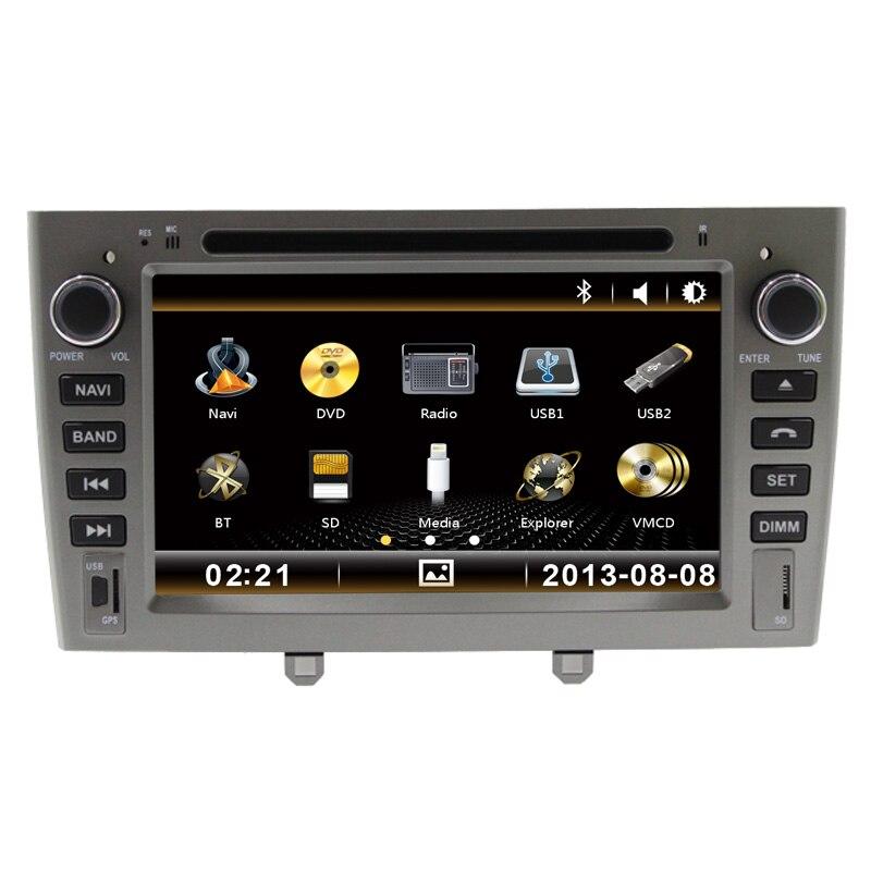7 pouces voiture DVD GPS Navigation stéréo multimédia Headunit pour Peugeot 408 308 avec bluetooth swc
